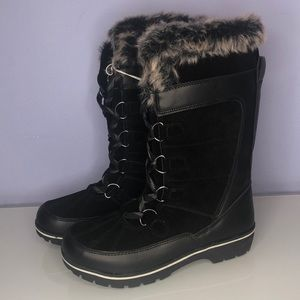 NWT Universal Thread Ruthie Leather Faux Fur Boots